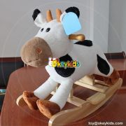 Manufacturer of toddlers cartoon small wooden rocking horse W16D107