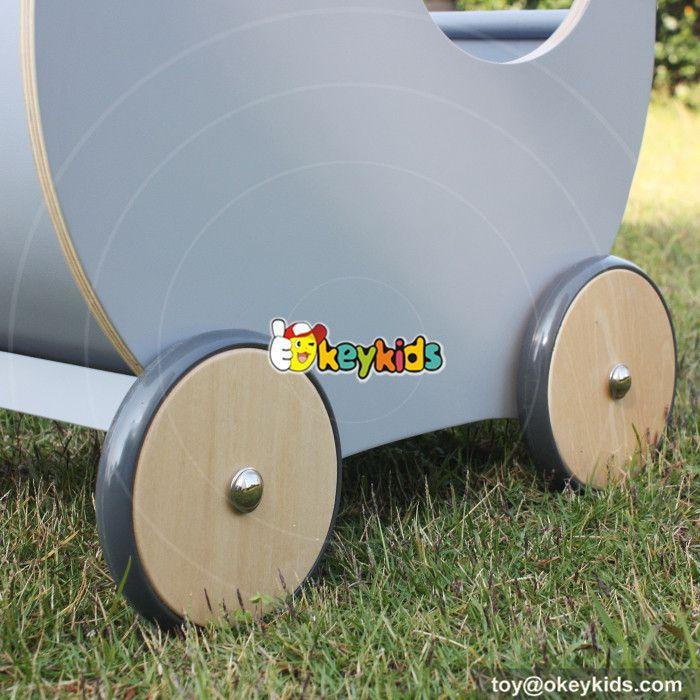 wooden baby walker