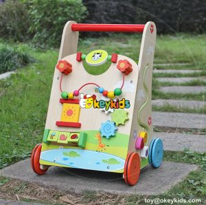 Okeykids Multi-function push along toys wooden infant push walker W16E061