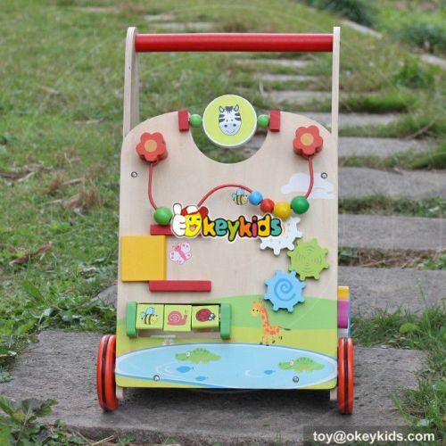 Okeykids Multi-function push along toys wooden infant push walker W16E061