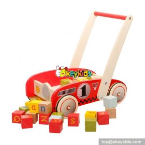 Best design multi-function push along toys wooden activity walkers for babies W16E067