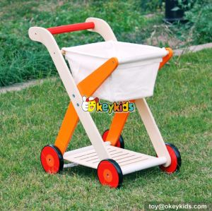 New design pretend shopping cart wooden best walker for baby W16E063