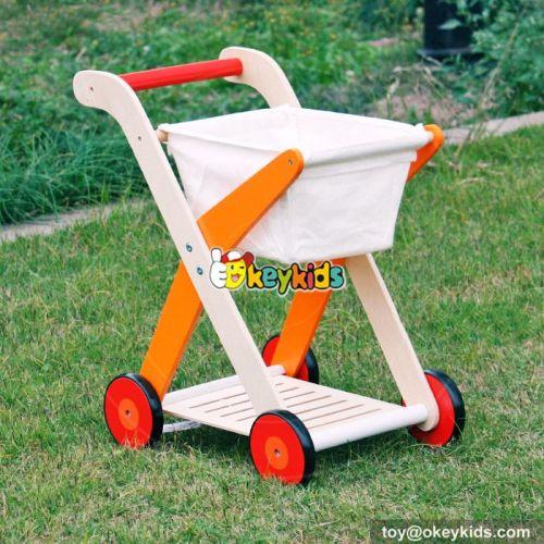 New design pretend shopping cart wooden best walker for baby W16E063