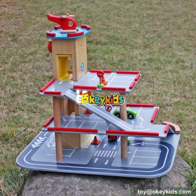 New products funny children wooden toy parking garage for sale W04B047