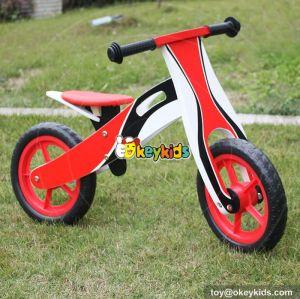 New design red best wooden girls balance bike W16C131