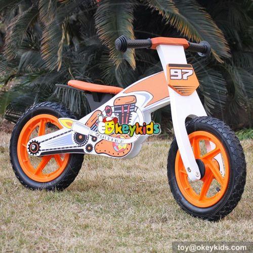 Okeykids Cool motorcycle shape wooden boys balance bike for sale W16C157