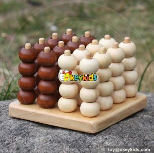 New design children counting beads toy wooden stacking blocks W13D115