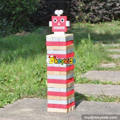 New design jenga wooden educational toys for kids W13D132