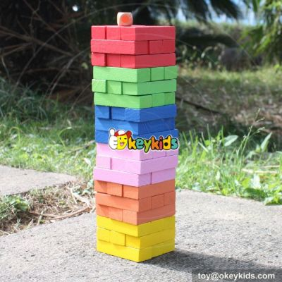 New design jenga wooden educational toys for toddlers W13D133
