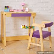 Best design children home furniture wooden study table with chair W08G156C