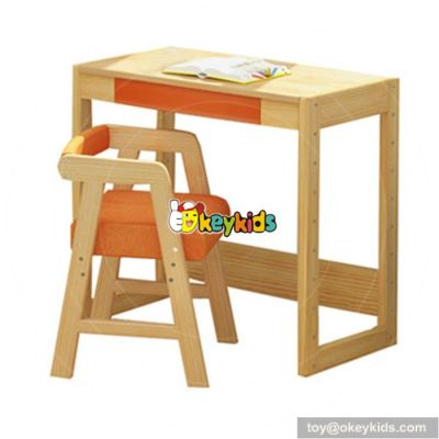Best design children home furniture wooden kids study table and chair W08G157B