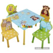Top sale kids wooden home furniture children wooden table and chairs WO8G089