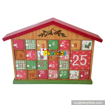 Top fashion kids Christmas gifts wooden house advent calendar W02A179