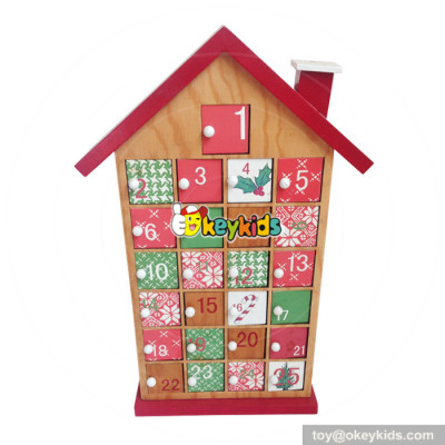 Top fashion kids Christmas surprise wooden advent calendar boxes with 24 doors W02A180