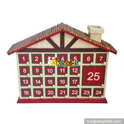 Top fashion kids surprise Christmas wooden advent calendar with 24 drawers W02A182