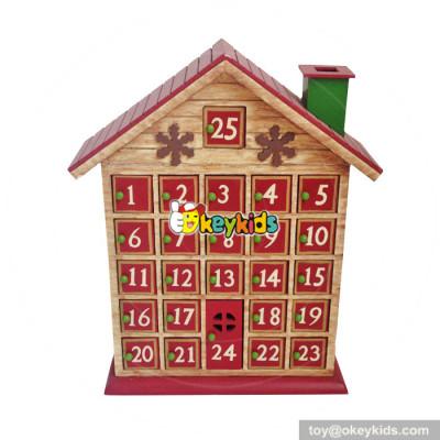 Top fashion kids surprise Christmas wooden house advent calendar W02A183