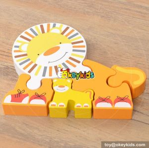 High quality kids 3d wooden puzzle W14A150