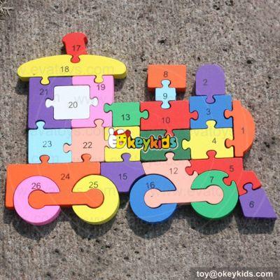 2017 Colorful preschool puzzle toys wooden kids puzzle W14A155