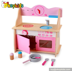 Lovely pink mini children wooden kitchen toy W10C208