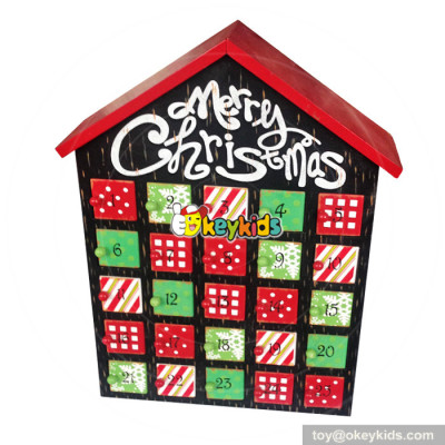 Top fashion kids surprise gifts wooden toy advent calendar W02A185