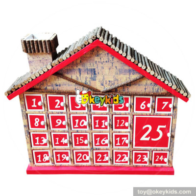 Top fashion surprise gifts wooden kids advent calendar W02A186