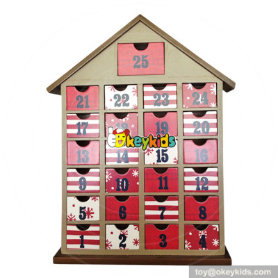 Top fashion surprise gifts wooden children advent calendars with toys W02A190