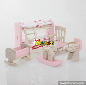Best wooden miniature dollhouse furniture for kids W06B012