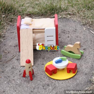10 Best pretend play toys wooden miniature dollhouse furniture kids W06B043