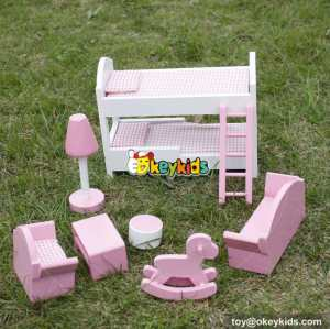 10 Best children pretend play toys wooden dollhouse furniture for kids online W06B046