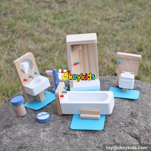 10 Best kids pretend play toys wooden miniature dollhouse furniture for sale W06B054