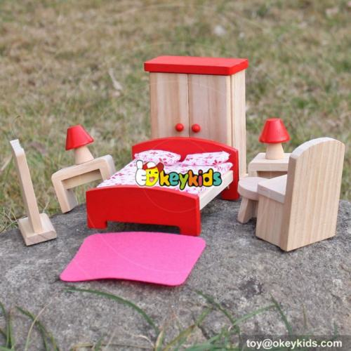 Top fashion kids pretend play toys wooden dolls house accessories for sale W06B053