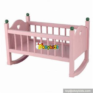 Top fashion doll accessories wooden american girl doll bed W06B018