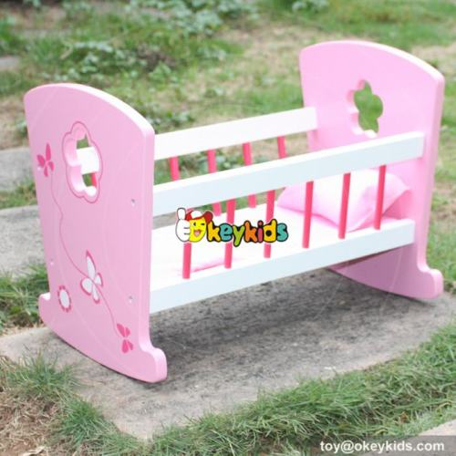 Top fashion girls toy furniture wooden 18 inch doll bed W06B052