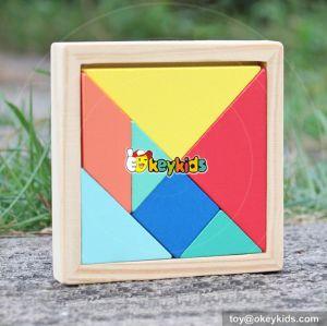 2017 Top fashion baby wooden tangram wholesale cheap kids wooden tangram W14A178