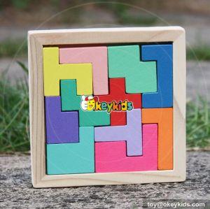 2017 kids funny wooden tetris puzzle best sale children wooden tetris puzzle W14A179