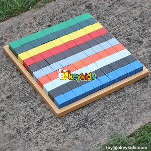 2017 wholesale 100 pieces wooden playing blocks best sale child wooden playing blocks W14A181