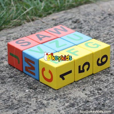 2017 wholesale baby wooden alphabet blocks W14B071