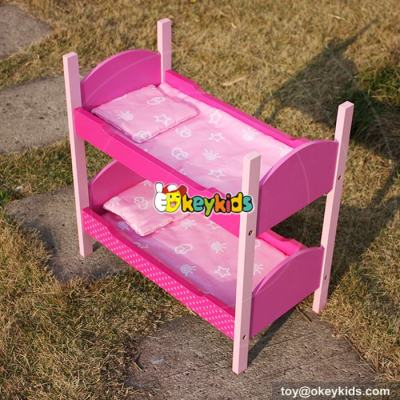 Best design lovely pink kids play wooden 18 inch doll furniture for sale W06B024