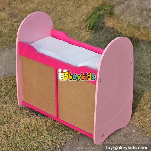 Best design lovely pink children toys wooden 18 inch doll furniture W06B025