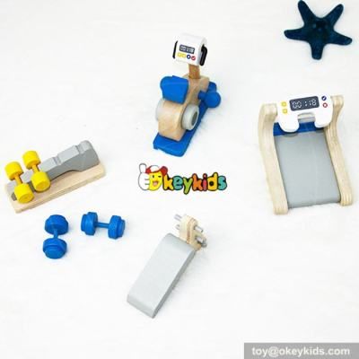 Best doll miniature fitness equipment toy wooden dollhouse accessories for sale W06B033
