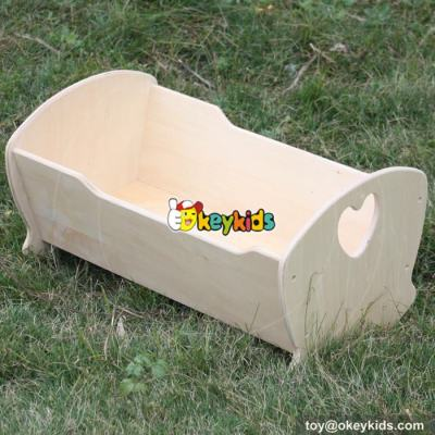 Best doll miniature 18 inch furniture toy wooden baby doll crib for sale W06B038