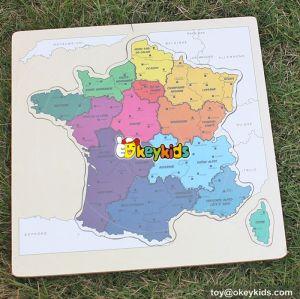 2017 wholesale children wooden world map puzzle W14C242