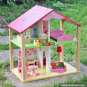 Top fashion girls toy wooden dolls house & Accessories W06A165