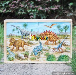 2017 wholesale hot sale wooden animal puzzle toy W14C247