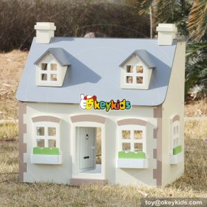 Best design children multi-Level wooden victorian dollhouse for your child W06A236