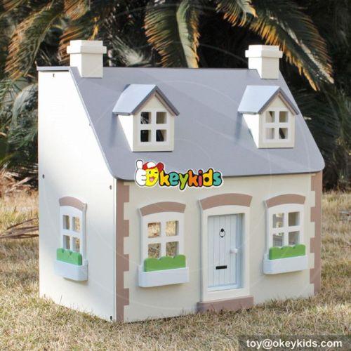 Best design children multi-Level wooden victorian dollhouse for your child W06A236