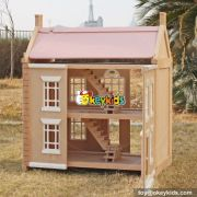 Best ideas ablout children diy multi-Level wooden dollhouse for your child W06A237