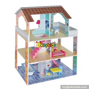10 Best handmade modern wooden diy dollhouse for girls W06A243