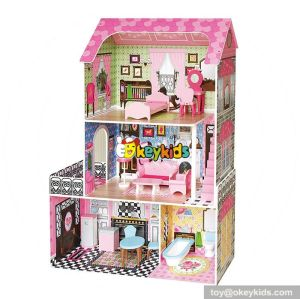 10 Best handmade modern wooden american girl doll house with furniture & accessories W06A244
