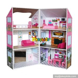 10 Best handmade double sided wooden girls 18 inch doll house with furniture W06A245